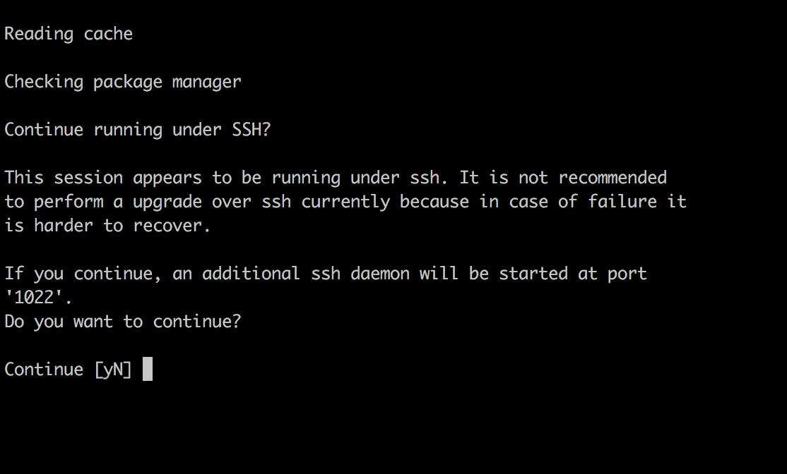 Ubuntu Upgrade Process