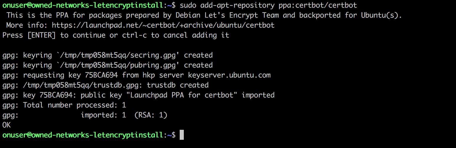 letsencrypt certbot repository ubuntu