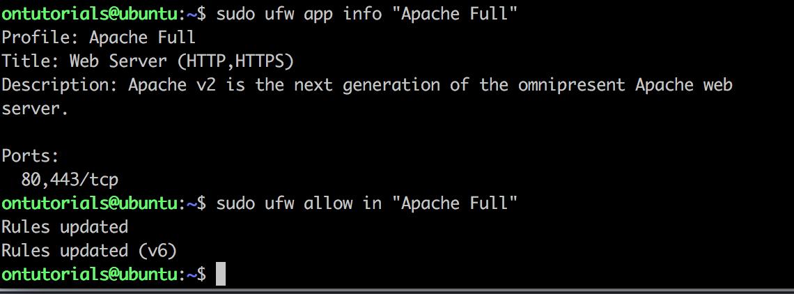 allow apache on ubuntu firewall